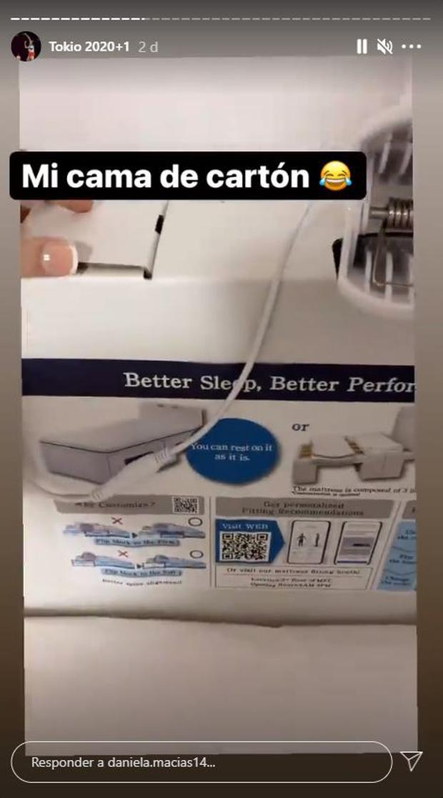 Peruvian badminton player Daniela Macias and her story about cardboard beds in Tokyo 2020.