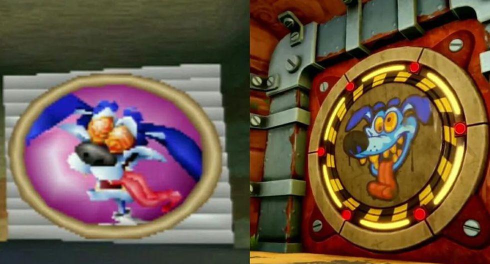 Comparación entre Ripper Roo de la versión 1999 y la de 2019. (Foto: Naughty Dog)