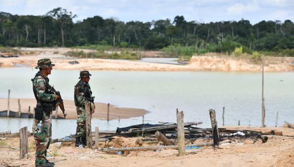 """El ministro de Defensa, José Huerta, anunció que se instalará una base militar o """"base de protección de la Amazonía"""" dentro de La Pampa. Foto: Ministerio del Interior del Perú."""