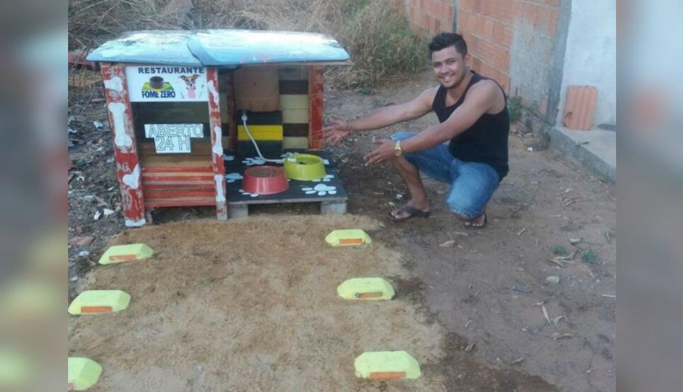 Usuarios de Facebook expresaron su admiración por la noble labor de este joven brasileño. (Foto: Facebook)