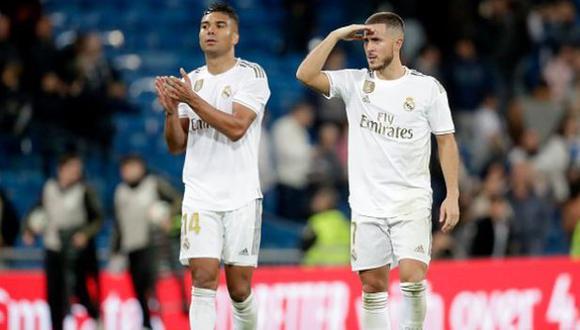 Eden Hazard y Casemiro dieron positivo por COVID-19 en el Real Madrid
