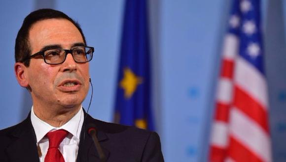 El secretario del Tesoro estadounidense, Steven Mnuchin. (Foto: AFP)