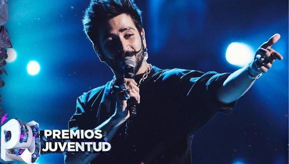 """Camilo interpretó """"Favorito"""" por primera vez sobre un escenario en los Premios Juventud 2020. (Foto: @PremiosJuventud)"""