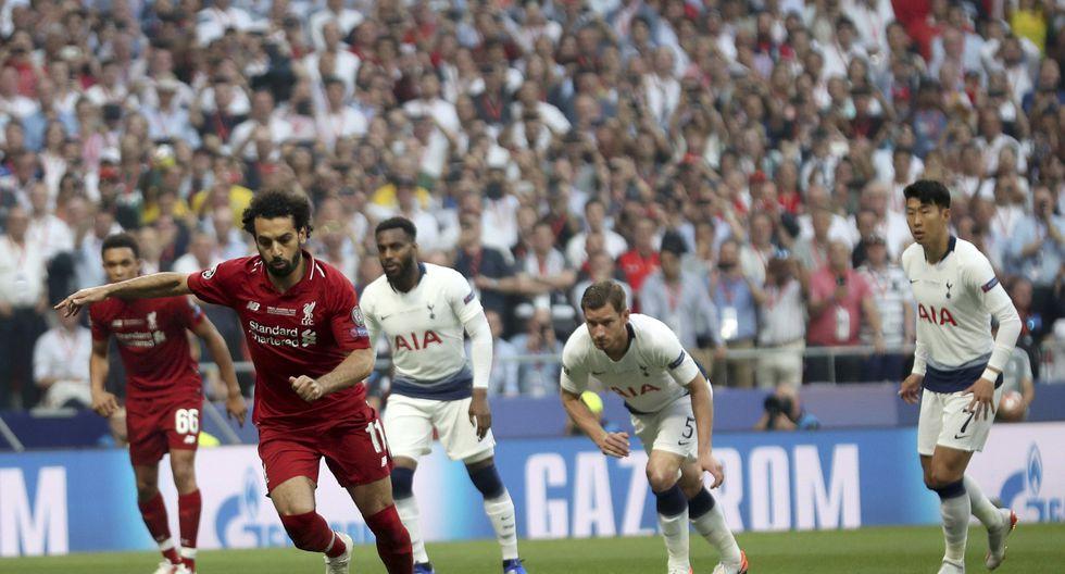 Liverpool vs. Tottenham: Mohamed Salah marcó el 1-0 de la final de la Champions League de penal. (Foto: AP)