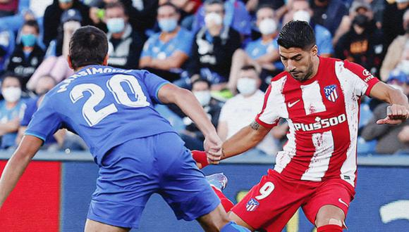 Doblete de Luis Suárez le dieron el triunfo al Atlético de Madrid frente al Getafe