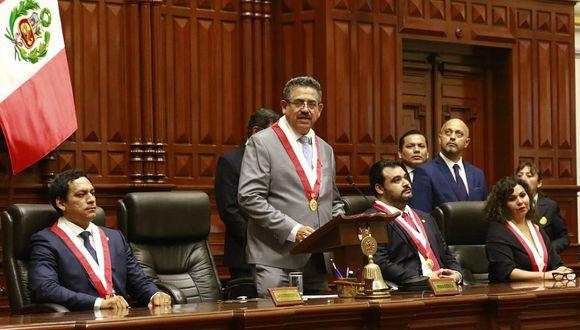 Manuel Merino explicó que el control concurrente no se aprobó dentro de las facultades delegadas al Ejecutivo porque contravenía la Ley Orgánica de la Contraloría. (Foto: GEC)