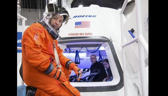 La nave espacial CST-100 de la compañía Boeing. (Foto: AP).
