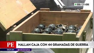 Ate: hallan caja de madera con 44 granadas de guerra