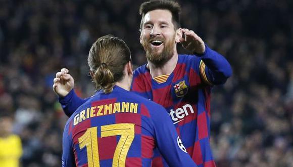 Antoine Griezmann confesó su deseo de que Messi siga en Barcelona. (Foto: AFP)