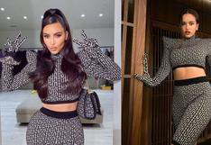 Kim Kardashian vs. Rosalía: ¿quién luce mejor el outfit?