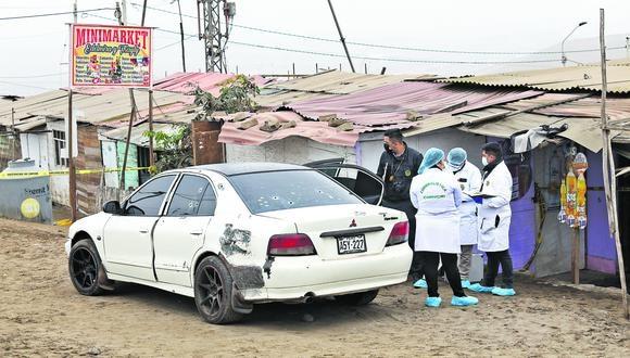 Cinco personas fueron asesinadas a principios de agosto por sicarios que dispararon una mini uzi. Ocurrió en los terrenos del asentamiento humano Villa Mar de Ancón. (Gonzalo Córdova/ GEC)