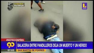 SMP: balacera entre barristas deja un muerto y un herido
