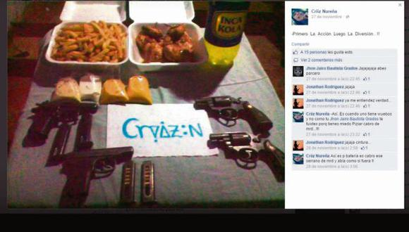 Bandas criminales de Paiján muestran armas en redes sociales