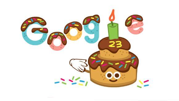 Google celebra su aniversario 23. (Foto: Google)