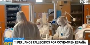 Coronavirus: once peruanos fallecen por COVID-19 en España