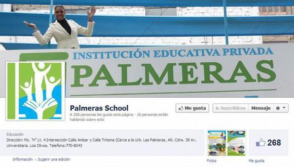 Cenaida Uribe es la imagen del colegio Palmeras School. (Foto Facebook)