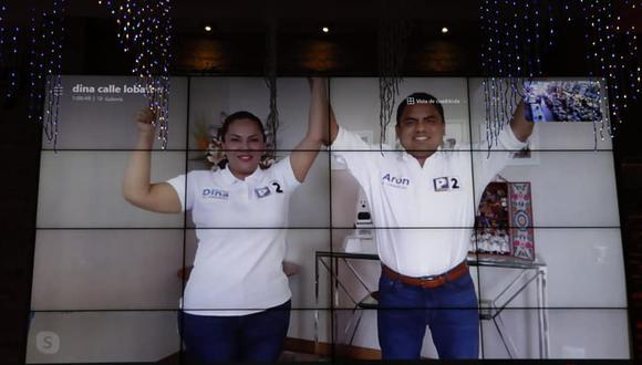 La candidata Digna Calle postula con el 2, el mismo número con el que su esposo Aron Espinoza logró ser elegido congresista en el 2020. (Imagen: Facebook de Digna Calle).