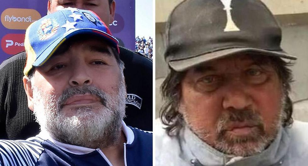 Diego Maradona y Pietro Puzone en la actualidad. Ambos tuvieron una cercana amistad años atrás. (Fotos: AFP   O.P.)