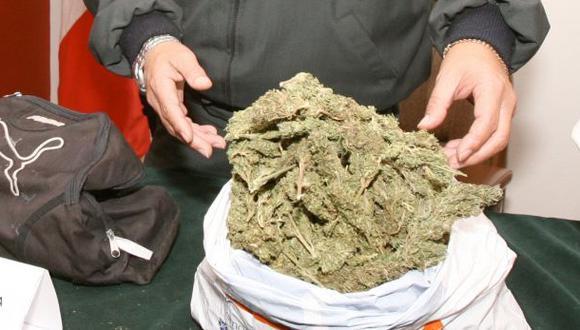 Tres policías detenidos en Huamachuco por transportar marihuana