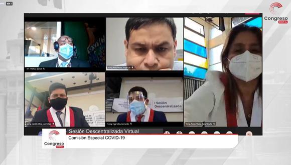 La sesión del grupo de trabajo se da luego de que Arequipa reportara un récord de muertes diarias. Foto: Centro de Noticias del Congreso