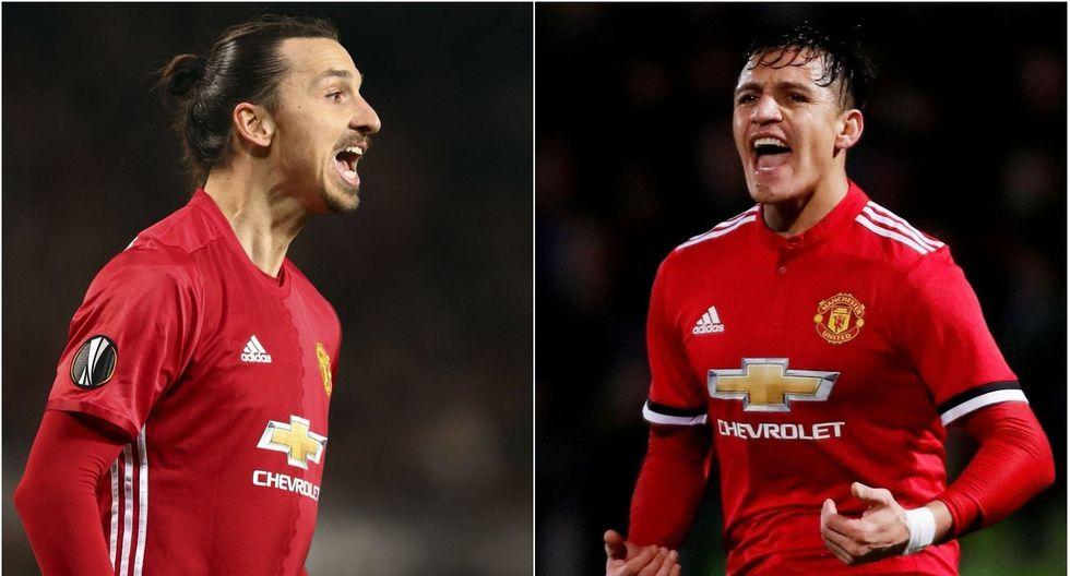 Zlatan Ibrahimovic sorprendió al realizar unas declaraciones acerca de Alexis Sánchez, su compañero en Manchester United.  (Fotos: Reuters/AP)