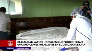 Cercado de Lima: clausuran hostales que funcionaban en condiciones insalubres