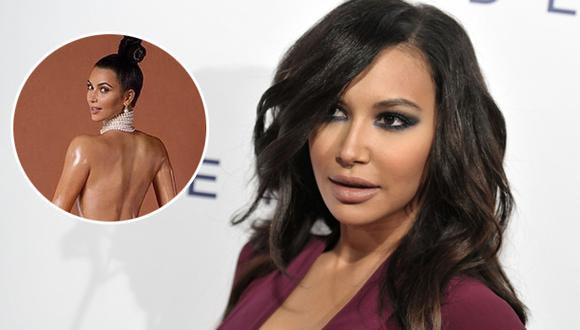 Naya Rivera arremete contra Kim Kardashian por foto desnuda