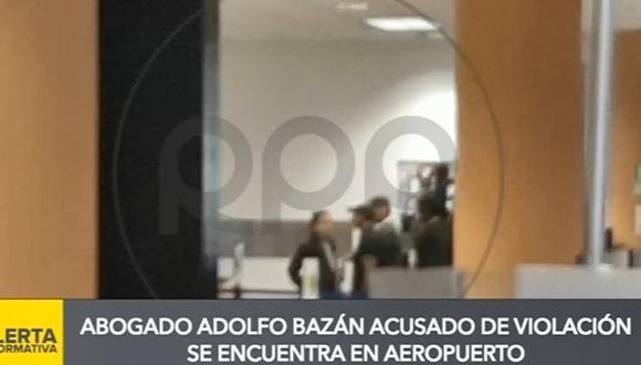 Abogado Adolfo Bazán pasó por Migraciones en el Aeropuerto Internacional Jorge Chávez. (Captura: RPP Noticias)