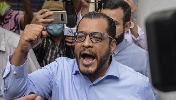 Félix Maradiaga, precandidato presidencial por la Alianza Azul y Blanco (UNAB) es uno de los enjuiciados y detenidos por la justicia de Nicaragua. (Foto INTI OCON / AFP).