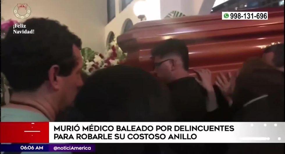 Se conoció que Enrique Ortega era médico Neurointensivista del Hospital Rebagliati y padre de dos menores. (Foto captura: América Noticias)