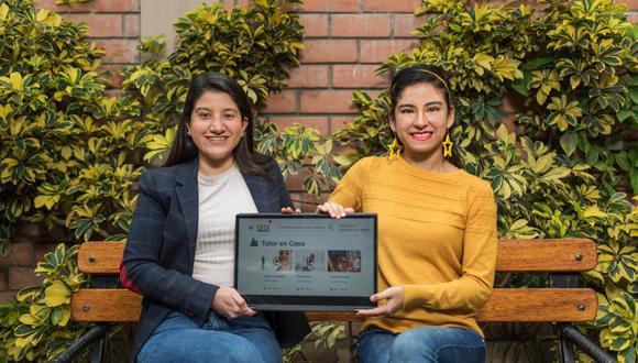 Bruna Rondón (izq.), Violeta Quevedo (der.) Mónica Villanueva y Pamela Ramírez se conocieron en un concurso de innovación en setiembre del 2019. (Foto: Omar Lucas / Somos)
