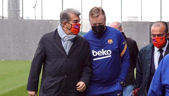 Joan Laporta acompaña a todo el plantel para el Barcelona vs. PSG. (Foto: FC Barcelona)
