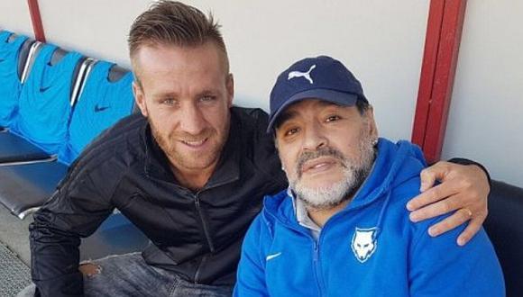 Danilo Carando, goleador de Real Garcilaso, reveló detalles de la intimidad junto a Diego Maradona en Dubai. (Foto: Difusión)