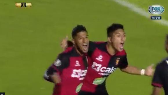 Hideyoshi Arakaki colocó el 2-0 del Melgar vs. Caracas en el marco de la tercera fase de la Copa Libertadores 2019 (Foto: captura de pantalla)