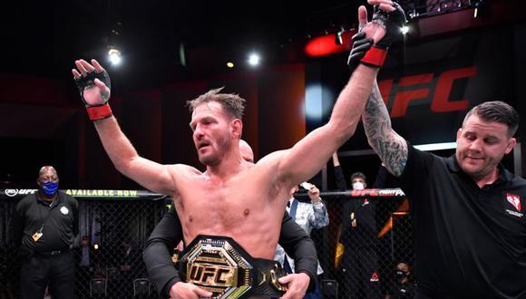 Stipe Miocic derrotó vía decisión unánime a Daniel Cormier en el UFC 252 | Foto: UFC