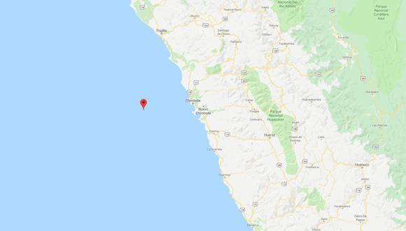 El sismo ocurrió a una profundidad de 38 km., reportó el IGP. (Captura: GEC)