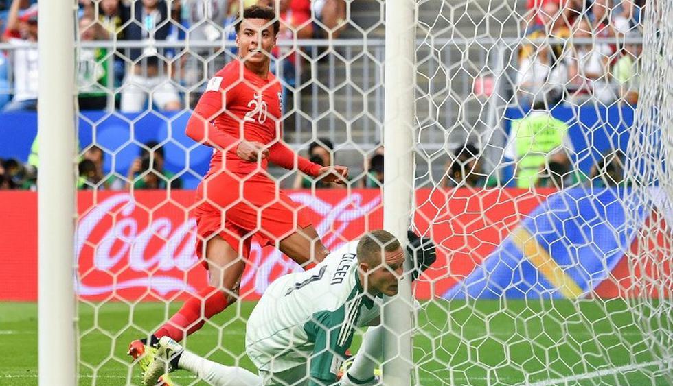 Dele Alli mandó la pelota al fondo de la red. (AFP)