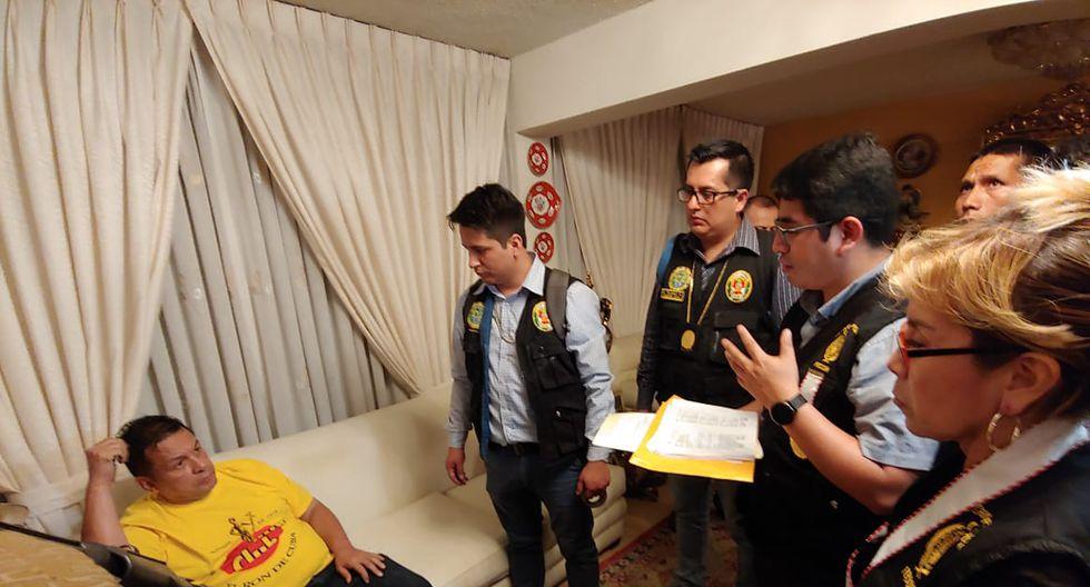 Así fue detenido Juan Sotomayor en su casa de Jesús María. (Foto: Ministerio Público)