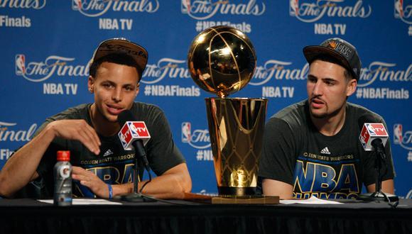 Stephen Curry y Klay Thomspon conformaron una dinastía en los Warriors | Foto: EFE