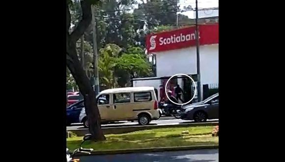 Robo en banco. (Foto: Captura de video)