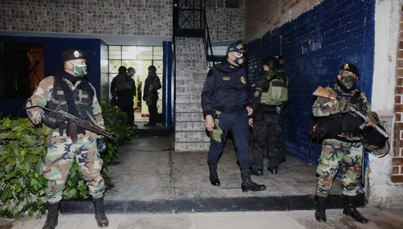 La organización criminal 'Los injertos de cara cortada' fue desarticulada la madrugada del jueves, luego de una megaoperación en el Callao (Foto: GEC/César Grados)