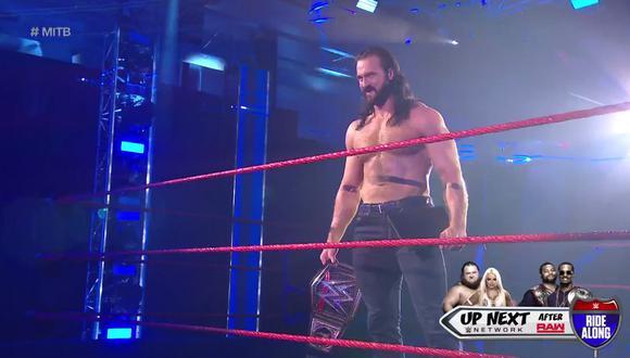 Drew McIntyre terminó la noche retando a Seth Rollins en el combate que tendrá lugar en Money In The Bank. Foto: WWE
