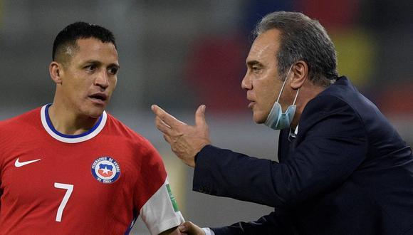 Martín Lasarte espera la recuperación de Alexis Sánchez. EFE/EPA/Juan Mabromata / POOL