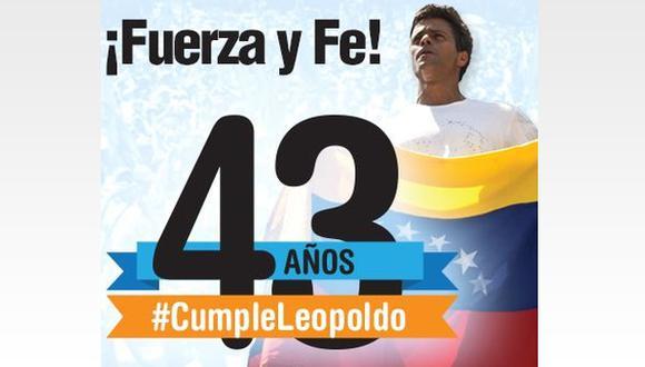 #CumpleLeopoldo: Apresado líder opositor cumple 43 años