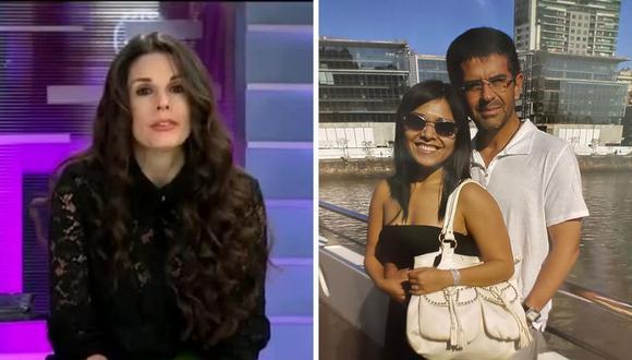 A la izquierda, Rebeca Escribens durante su mensaje de comprensión para Tula Rodríguez, quien perdió de manera reciente a su esposo (der.). (Fotos: Captura de pantalla de América TV / Instagram: @tulaperu).