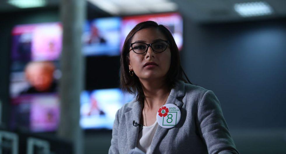 Arlette Contreras dijo esperar que su postulación al Congreso impulse a más mujeres a participar en política. (Foto: Alessandro Currarino/ El Comercio)