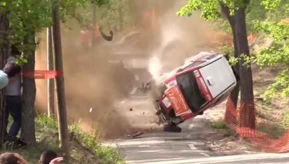 YouTube: Increíble accidente en un rally de Francia