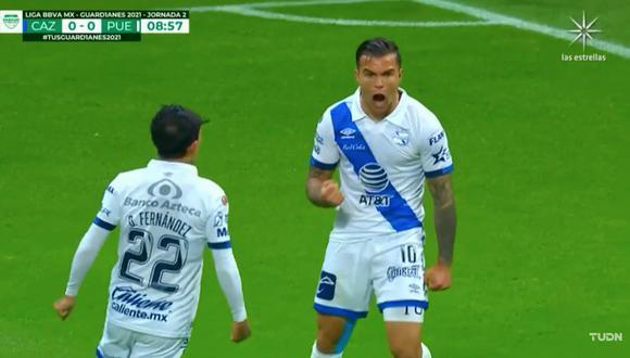 Cruz Azul vs. Puebla:  Christian Tabó y el 1-0 tras asistencia de Omar Fernández | VIDEO