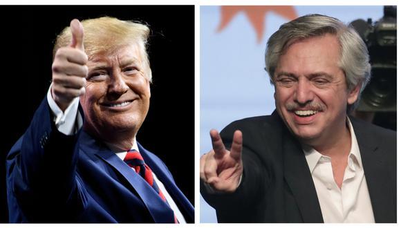 El presidente de Estados Unidos, Donald Trump, llamó este viernes al mandatario electo de Argentina, Alberto Fernández, para felicitarle por su triunfo electoral. (Foto: AFP).