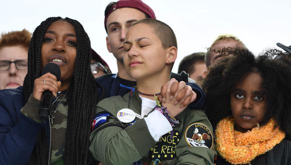 Algunos de los sobrevivientes, como Emma Gonzalez, quien se encuentra llorando en esta foto, empezaron su activismo desde la masacre en Parkland. (Foto: Jim Watson / AFP)